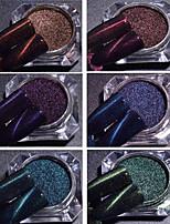 economico -1pc Magnetico A cuore Polvere di glitter Caffè Caffè scuro Blu lago Verde Viola Blu zaffiro Nail Art Design