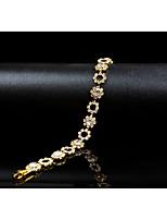 economico -Per donna Bracciali a catena e maglie Zircone cubico Strass Vintage Elegant Cristallo Lega Circolare Gioielli Matrimonio Evento