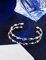 Недорогие -Жен. Браслет цельное кольцо Браслет разомкнутое кольцо Винтаж Elegant Титан Круглый бесконечность Бижутерия Свадьба Обручение