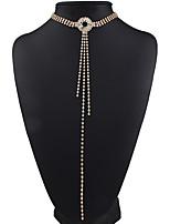 cheap -Women's European Fashion Elegant Choker Necklace Rhinestone Alloy Choker Necklace , Wedding Party