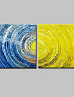 cheap -Hand-Painted Abstract Horizontal,Modern Canvas Oil Painting Home Decoration Two Panels