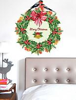 Рождество Наклейки Простые наклейки Декоративные наклейки на стены,Винил Украшение дома Наклейка на стену Стена Окно