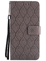 cheap -Case For Samsung Galaxy S8 Plus S8 Card Holder Wallet with Stand Flip Pattern Full Body Solid Color Lace Printing Hard PU Leather for S8