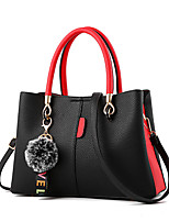 cheap -Women Bags PU Shoulder Bag Zipper for Casual Office & Career All Season Wine Yellow Gray Blushing Pink Red