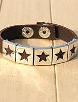 cheap -Men's Bracelet , Hiphop Gothic Leather Alloy Circle Star Jewelry Going out Street
