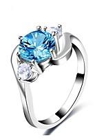 preiswerte -Damen Bandringe Knöchel-Ring Strass Formell Einfach Klassisch Elegant Kupfer Kreisform Schmuck Hochzeit Party Verlobung Zeremonie