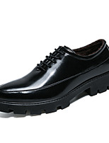 cheap -Men's Shoes Patent Leather Customized Materials Winter Fall Fluff Lining Comfort Oxfords for Casual Office & Career Black