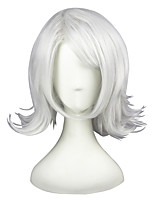 cheap -Women Synthetic Wig Short Kinky Straight Silver Cosplay Wig Costume Wig