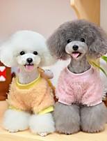 Chien Sweatshirt Vêtements pour Chien Décontracté / Quotidien Dessin-Animé Jaune Rose Costume Pour les animaux domestiques