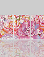economico -Stampa trasferimenti su tela Contemporaneo Classico Rustico Modern,Tre Pannelli Tela Verticale Stampa Decorazioni da parete Decorazioni