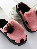 Women's Shoes Polyamide fabric Cotton Winter Comfort Slippers & Flip-Flops Null / Round Toe Null / For Casual Outdoor Pink Red Gray