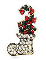 cheap -Women's Brooches Rhinestone European Colorful Alloy Shoe Jewelry For Christmas Gift