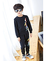 cheap -Boys' Solid Print Clothing Set,Cotton Polyester Spring Fall Long Sleeve Simple