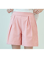 cheap -Girls' Solid Shorts,Cotton Summer Simple Blushing Pink