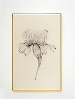Недорогие -ботанический Масляные картины Предметы искусства,Сплав материал с рамкой For Украшение дома Предметы искусства в рамках Гостиная