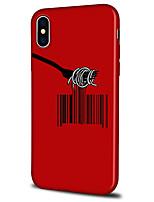 Недорогие -Кейс для Назначение Apple iPhone X / iPhone 8 Plus С узором Кейс на заднюю панель Полосы / волосы / Геометрический рисунок Мягкий ТПУ для iPhone XS / iPhone XR / iPhone XS Max