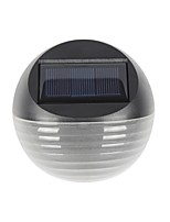 cheap -1pc Warm/Cool White Color 6LED Solar Light Solar Powered Fence Lamp Semicircle Garden Lawn Wall Light