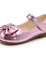 cheap -Girls' Shoes PU Winter Fall Comfort Flower Girl Shoes Flats for Casual Pink Black Gold