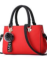 cheap -Women Bags PU Shoulder Bag Zipper for Casual Office & Career All Season Yellow Gray Military Green Blushing Pink Red
