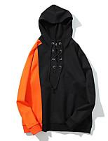 preiswerte -Herren Kapuzenshirt Übergrössen Ausgehen Lässig/Alltäglich Street Schick Solide Einfarbig Mit Kapuze Hoodies Mikro-elastisch Polyester