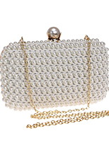 cheap -Women Bags Polyester ABS+PC Evening Bag Pearl Detailing for Wedding Event/Party All Season Beige