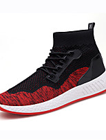 cheap -Men's Shoes Knit Spring Fall Comfort Sneakers for Casual Outdoor Black/Green Black/Red Red Black