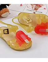 cheap -Girls' Shoes PVC Leather Spring Summer Comfort Sandals Walking Shoes Buckle for Casual Purple Yellow Red Blue
