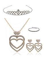 preiswerte -Damen Tiara Braut-Schmuck-Sets Strass Diamantimitate Aleación Herz Modisch Europäisch Hochzeit Party Körperschmuck 1 Halskette Ohrringe