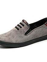 cheap -Men's Shoes Suede Spring Fall Comfort Loafers & Slip-Ons for Casual Gray Black