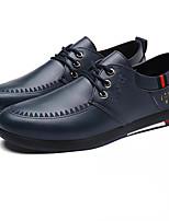 Для мужчин обувь Полиуретан Весна Осень Удобная обувь Туфли на шнуровке Назначение Повседневные Черный Коричневый Синий