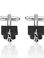 cheap -Hat Black Cufflinks Copper Basic Fashion Graduation Daily Men's Costume Jewelry