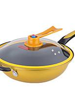 economico -Ghisa Plastica Piatto Pan Pot multiuso,32*9