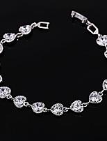 Недорогие -Жен. Браслет Синтетический алмаз Стразы Серебрянное покрытие Бижутерия Свадьба Для вечеринок