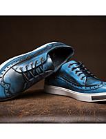 economico -Da uomo Scarpe Nappa Pelle Primavera Autunno Comoda Sneakers per Casual Nero Grigio Blu Borgogna