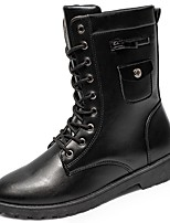 cheap -Men's Shoes Synthetic Microfiber PU Winter Combat Boots Boots for Casual Black