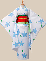 cheap -Inspired by Hoozuki no Reitetsu Zashiki-warashi 2 Anime Cosplay Costumes Cosplay Suits Print Kimono Waist Accessory Headwear Sash / Ribbon