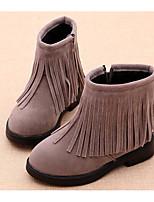 abordables -Fille Chaussures Cuir Nubuck Hiver Automne Confort Bottes à la Mode Bottes Bottine/Demi Botte pour Décontracté Noir Gris Rouge
