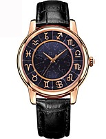 cheap -Men's Women's Fashion Watch Wrist watch Chinese Quartz Moon Phase Leather Band Colorful Black White Red Brown Pink
