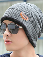 cheap -Men's Sweater Floppy Hat,Work Casual Solid Winter Knitted Gray