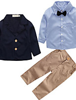 cheap -Boys' Striped Clothing Set,Rayon Spring Fall Long Sleeve Street chic Blue