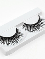 cheap -1 Eyelashes lash Full Strip Lashes Eyelash Crisscross Natural Long Natural Handmade Fiber Black Band 0.07mm
