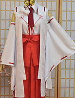 cheap -Inspired by Armed Girl's Machiavellism Tsukuyo Inaba Anime Cosplay Costumes Cosplay Suits Print Tops Pants Headpieces Tie For Female