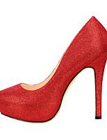 preiswerte -Damen Schuhe Glitzer Künstliche Mikrofaser Polyurethan Frühling Herbst Komfort High Heels Stöckelabsatz Runde Zehe für Hochzeit Party &