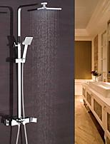 cheap -Contemporary Centerset Handshower Included Ceramic Valve Single Handle Two Holes Chrome , Shower Faucet