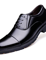 cheap -Men's Shoes Cowhide Spring Fall Comfort Oxfords for Casual Black