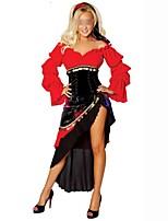 Недорогие -Классическая и традиционная Лолита Elegant Женский Инвентарь Косплей Красный Бабочка Длинный рукав Боди до середина бедра