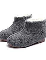 cheap -Girls' Shoes PU Winter Fall Fur Lining Fluff Lining Boots Null Null Booties/Ankle Boots / For Casual Dress Burgundy Dark Brown Gray Black