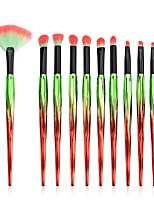 cheap -10 pcs Makeup Brush Set Blush Brush Eyeshadow Brush Lip Brush Powder Brush Foundation Brush Pony Synthetic Hair Eco-friendly Professional