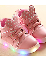 cheap -Girls' Shoes PU Winter Fall Comfort Sneakers Walking Shoes Null Magic Tape for Casual White Black Pink