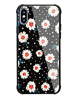 baratos -Capinha Para Apple iPhone X iPhone 8 Antichoque Estampada Capa Traseira Flor Rígida Vidro Temperado para iPhone X iPhone 8 Plus iPhone 8